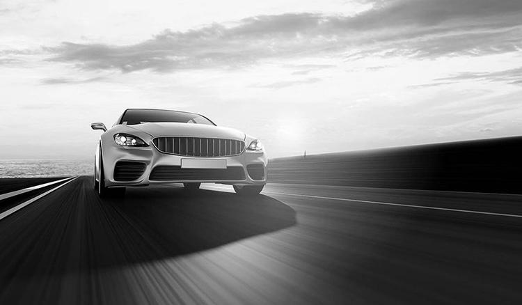 Car insurance teaser image - black and white
