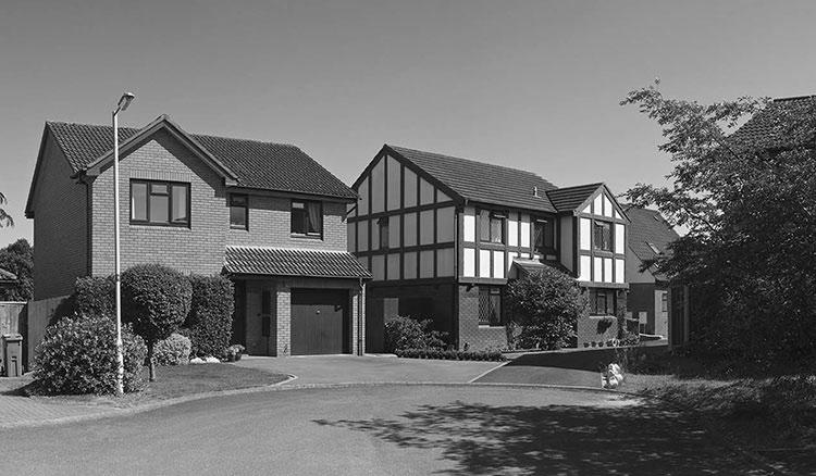 Home insurance teaser image - black and white